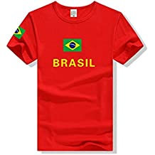 VIOY Camiseta de Manga Corta Brasil Fútbol Estampado Jersey Ronaldo,Brasil,M