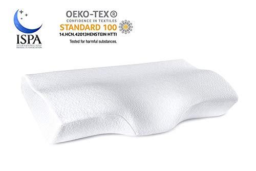 YANXUAN Kontur Memory Foam Kissen für Nackenschmerzen, Nackenkissen, ergonomisches Nackenkissen mit waschbarem Kissenbezug, 60 x 35 x 11 cm -