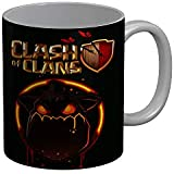 FunkyTradition Clash Of Clans Black Ceramic Coffee Mug, 350 Ml