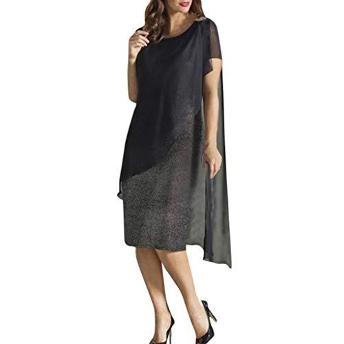 8387100213 Lilicat Donna Vestiti Eleganti Estivi Vestito da Giorno Manica Corta  Vestitini Cerimonia Sera Partito Casuale Ragazza