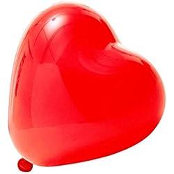 Globos del corazón 100 unidades en colo rojo. Disponibles en todos los colores.