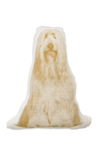 Kissen Fauna mini Bearded Collie beige