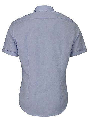 Seidensticker Herren Businesshemd Tailored Kurzarm mit Kent-Kragen bügelfrei Hellblau