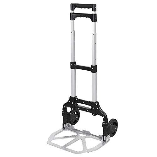 Meditool Carretilla plegable aluminio, carretilla de transporte, carretilla de mano, Carga máxima 70 kg