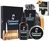 GoldWorld Kit Complet de Barbe d'Homme avec Gratuit Savon à la Barbe,Huile...