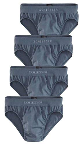 SCHIESSER 4er Pack Slip Supermini Gr. 4 S Unterhose NEU (grau) -