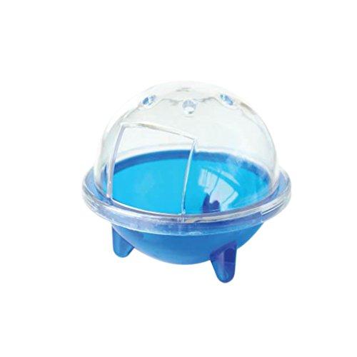 Hamster Salle de Bain OVNI Animal Gerbille Cage Sable Pelle Toilette Jouet - Bleu