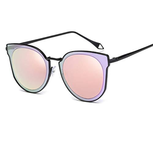 YONGYONG-Sunglasses Trendy Sonnenbrillen Mode Neue Sonnenbrillen Metall Farbfilm Sonnenbrillen Persönlichkeit Sonnenbrillen Fahren Im Freien (Farbe : Black Frame Powder)