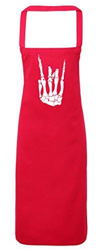 hippowarehouse Skelett Hand Schürze Küche Kochen Malerei DIY Einheitsgröße Erwachsene, fuchsia pink, (Kostüm Malerei Skelett)