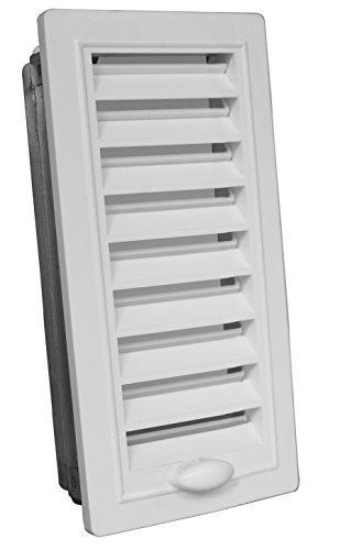 Upmann 50143 Lueftungsgitter Kunstst. 9x28 verstellbar mit Einbaur. weiß
