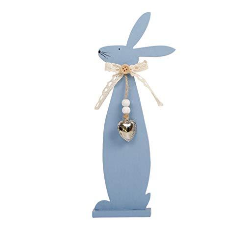 Lazzboy Osterhase Exquisite Premium Holzanhänger hängende Dekoration(Blau,Ca ()