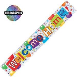 Every-occasion-party-supplies Welcome home banner (Willkommen Home) Partywimpel, 2,6 m, Gelb (Home Party Supplies)
