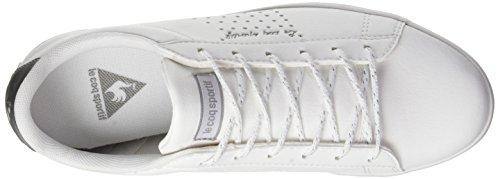Le Coq Sportif Agate Lo S Lea/Metallic, Formatori Bassi Donna Bianco (Optical White/silver)