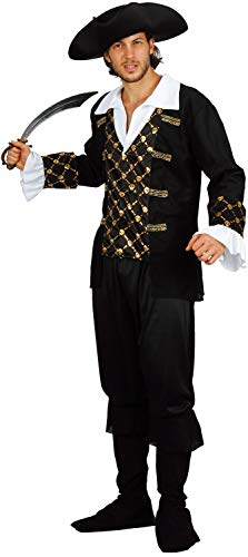 U LOOK UGLY TODAY Halloween Kostüm Herren Pirate Karneval Verkleidungsparty Dress Up Party mit Spielmesser und Hut - M/L - 56