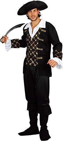 U LOOK UGLY TODAY Halloween Kostüm Herren Pirate Karneval Verkleidungsparty Dress Up Party mit Spielmesser und Hut - M/L - 56 (Halloween Pirate Dress Up)