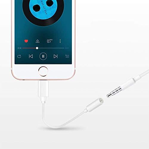 Kopfhörer für iPhone Adapter-Anschluss AUX 3,5 mm Kopfhörer-Adapter für iPhone X 8/8 Plus Converter Zubehör Kopfhörer-Kabel-Splitter Audio-Buchse Kopfhörer-Kabel Ohrhörer-Adapter Unterstützung iOS 12 - 6