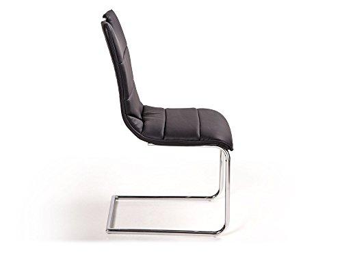 MILANO Freischwinger Esszimmerstuhl Schwingstuhl Stuhl schwarz - 3