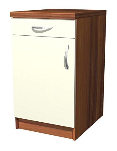 Küchen Unterschrank Sienna 50 cm Vanille Zwetschge Dekor