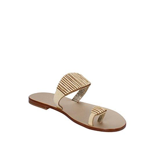 EDDY DANIELE sandali donna camoscio beige