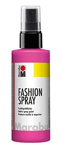 Marabu - vernice per stoffa con erogatore spray, 100 ml, colore: rosa