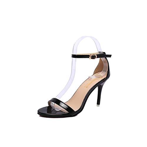 Summer Shoes Peep Toe Women Sandals Sweet Fashion Sandals Women Heels Thin Heel Pumps Princess High Heels Women Shoes Black 5