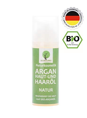 Bio Argan Körperöl & Haaröl duftneutral | Arganöl kaltgepresst für Haare, Körper, Haut & Gesicht – Pflegeöl Vegan & ungeröstet 100{868c275cda38d6ec37388acd06fc4a2c1ced67f082d0c55de305d2b087000df4} natürlich, Hautöl für trockene Haut & Anti-Aging-Pflege 50ml