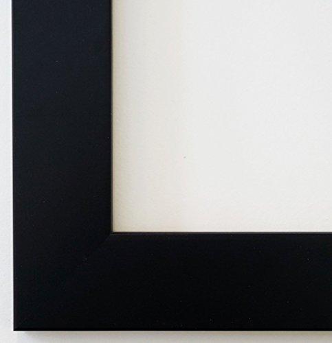 Bilderrahmen Florenz Schwarz 4,0 - Über 100 Größen - 4 Ausstattungsvarianten - Wechselrahmen mit Museumsglas (UV-Schutz 45% - entspiegelt) - 40 x 50 cm - - Uv-glas-bilderrahmen