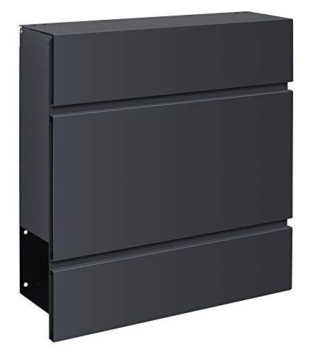 Frabox LENS Briefkasten Anthrazitgrau Design