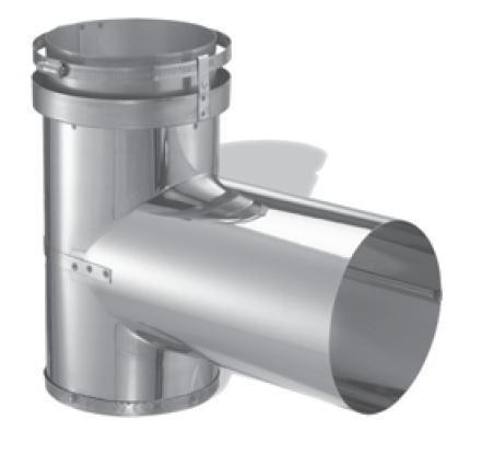 DuraVent 3DFS-T Stainless Steel DuraFlex SS 3 Zoll DuraFlex SS Tee aus der DuraFlex SS Serie -