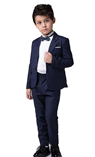 Icegrey Jungen Klage Marine Blau Ausgestattet Fest Anzug Hochzeit Pagen 4 Jahre (Husky Jungen Anzug)
