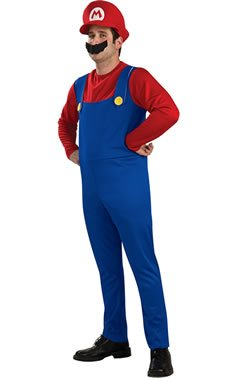 Official Adult Mario 80s Video Game Costume