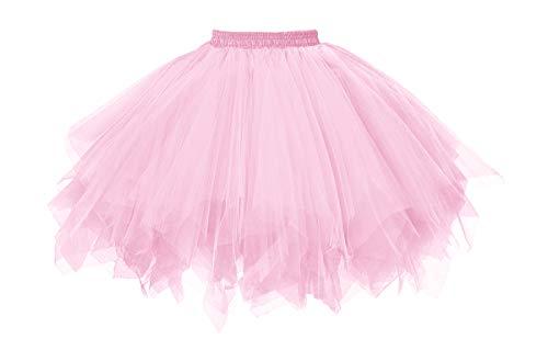 MuseverBrand 50er Vintage Ballet Blase Firt Tulle Petticoat Puffy Tutu Pink Large/X-Large