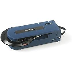 Ricatech RTT22 - Tocadiscos (Azul)