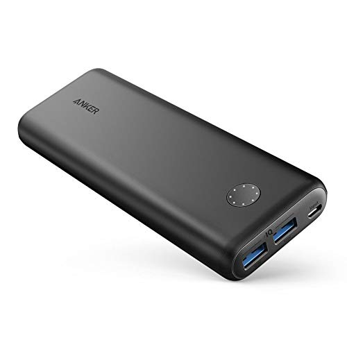 Anker PowerCore II 20000mAh Powerbank externer Akku mit PowerIQ 2.0 und Zwei USB-A Ports, lädt iPhone XS Max/XR / XS/X / 8 / 8Plus / 7 / 6s / 6Plus, und Samsung Galaxy und weitere Geräte (Schwarz)