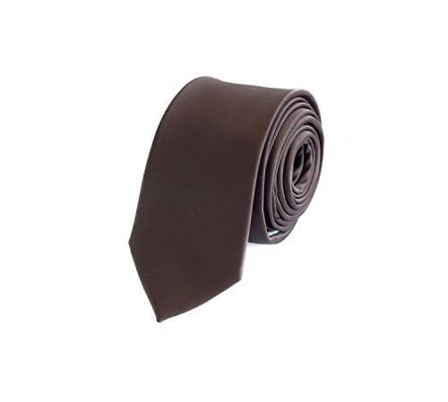 Schmale Krawatte von Fabio Farini in braun