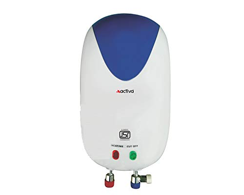 ACTIVA 3 LTR Instant 3 KVA Special Anti Rust Coated Tank Geyser with Full ABS Body with 2 Year Warranty Premium (White)
