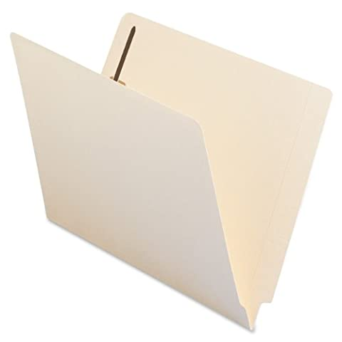 Smead End Tab Fastener File Folder, Shelf-Master® Reinforced Straight-Cut Tab, 2 Fasteners, Letter Size, Manila, 50 per Box
