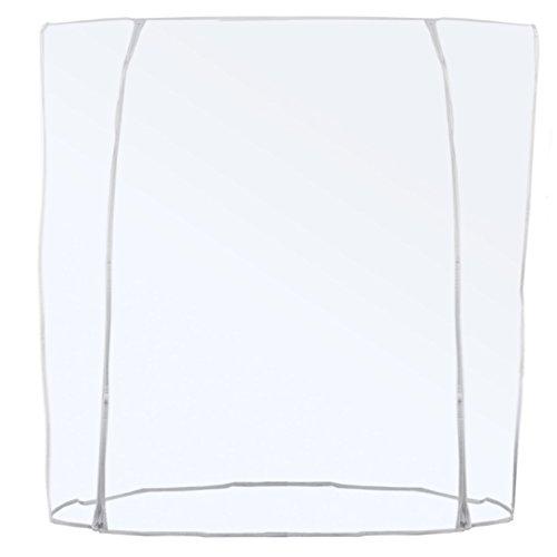 Transparente Abdeckhaube für Konfektionsständer - Doppel-Reißverschluss Länge 120/150/180cm (180cm)