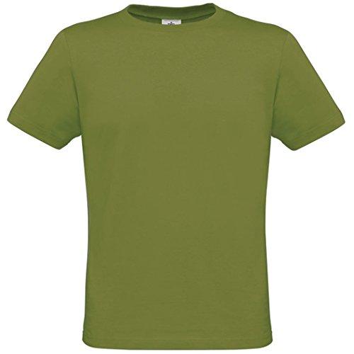 B&C Herren T-Shirt, Kurzarm, Rundhals Moosgrün