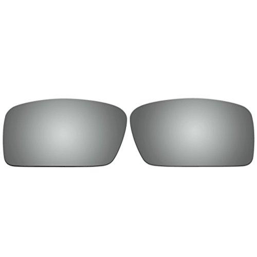 Acompatible Ersatzgläser für Oakley Gascan S Sonnenbrille, Titanium Mirror - Polarized