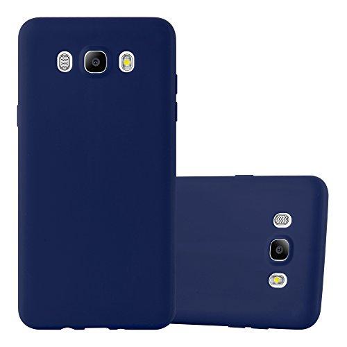 Preisvergleich Produktbild Cadorabo Hülle für Samsung Galaxy J5 2016 (6) - Hülle in Candy DUNKEL BLAU – Handyhülle aus TPU Silikon im Candy Design - Silikonhülle Schutzhülle Ultra Slim Soft Back Cover Case Bumper