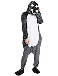 heekpek Pijamas Unisexo Adulto Cosplay Pijamas la Ropa de Noche del Nightclothes Carnaval Disfraz Pijamas,
