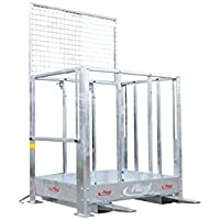 Plataforma de trabajo plegable con enganche para carretilla elevadora de serie