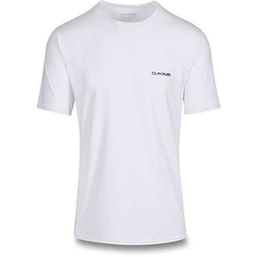Dakine Herren Heavy Duty Loose Fit Kurzarm Surf Shirt Weiß - 6,5 Unzen Loose Fit Surf Shirt - Flatlock-Nähte -