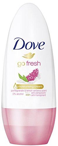 Dove Deo Roll-On go fresh Granatapfel- und Zitronenverbenenduft, 6er Pack (6 x 50 ml)