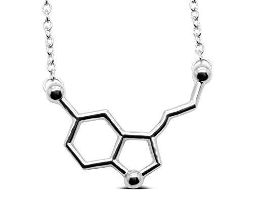 Serotonina Colgante. Color Plata, Oro, Oro rosa