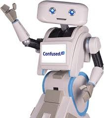 Brian The Robot Toy Confused.com Confused Pull and Go 8 Phrases