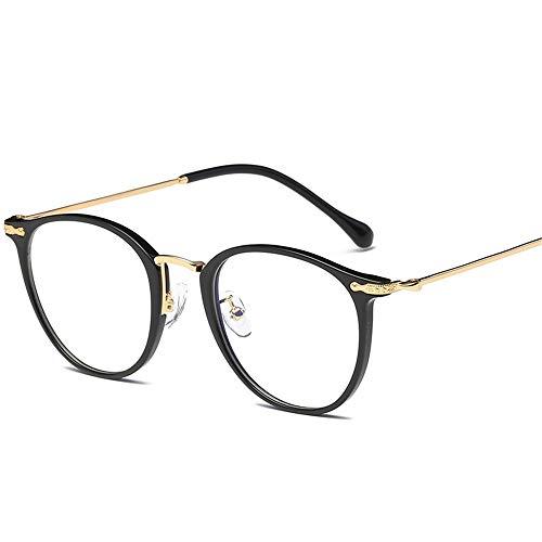 Flache Linse, die alte Wege wiederherstellt Die ovalen Männer und Frauen haben Schattierungsgläser für Sutdents/Büroangestellte Brille (Farbe : A)