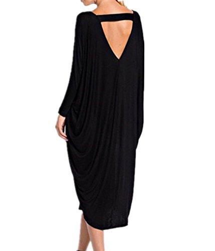 Generic Maxi Courroie dans la robe de la longue section de la mode Noir