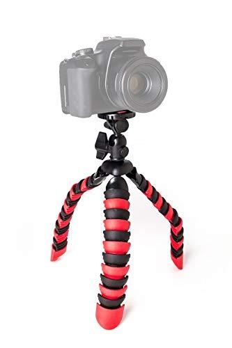 TronicXL Premium Kamerastativ Kamera Stativ Flexibel Tripod für Camcorder Canon Legria HF R806 R86 R88 EOS 100D 550D 600D SLR Kameras R706 Full-HD R76 R78 M3 80D 6D 7D Mark II Systemkamera SX70 etc